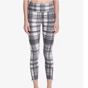 DKNY Sport Hight Waist Plaid Leggings